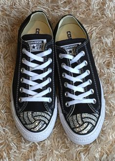 Low Top Volleyball Blinged Converse Shoes. Women's Shoes. Volleyball Games, Volleyball  Players, Volleyball Mom. Gift for Mom, Gift for Her