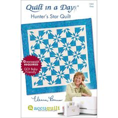 Quilt in a Day Hunter's Star Quilt Pattern by Eleanor Burns-Easy(1503) #QuiltinaDay