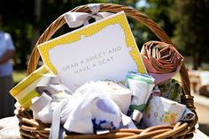 picnic wedding basket or reception basket