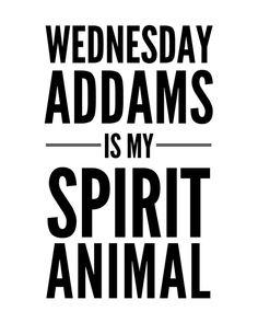 :: Wednesday Addams Is My Spirit Animal ::  ----------------------- INCLUDED: ----------------------- -One high-resolution (300dpi) 8X10 JPG