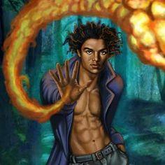Jeune michael jackson vampire cherche a flammes de tir de la main