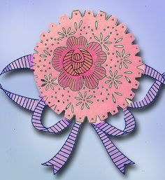 1940s Vintage Superior Embroidery Transfer 141 Uncut Floral Pillowcase Motifs