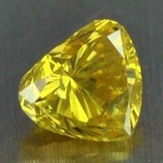 0.07 cts Natural Rare Fancy Vivid Yellow Diamond Heart loose untreated