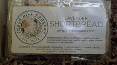 Chalk Hill Cookery- Lavender Shortbread. vegan has never been so good to me!