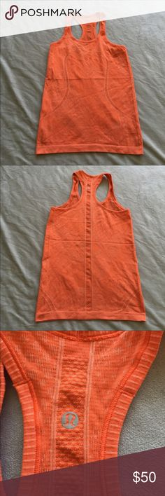 Just like new swiftly tank Bright orange, very cute. Just like new. Price negotiable lululemon athletica Tops Tank Tops
