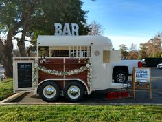 "Acquire wonderful tips on ""horse trailer hitch"". They are actually offered for you on our site. Mobile Catering, Catering Menu, Wedding Catering, Foodtrucks Ideas, Horse Box Conversion, Prosecco Van, Coffee Trailer, Hot Dog Cart, Beer Wedding"