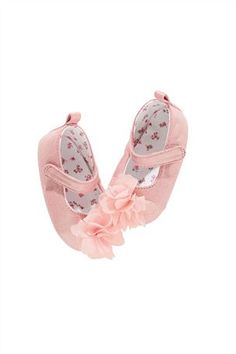 Prink Corsage Bar Shoes (0mth-2yrs)