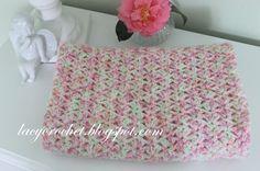 Lacy Crochet: Tiny Tulips Baby Blanket, Free Crochet Pattern