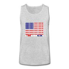 bf12cc8c125d0  Merica Barcode USA Flag Kids  Tank Top ~ 2464
