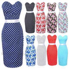 2013 New Fashion Women Maggie Tang 50s 60s Swing Polka dot Pencil Dress Pinup Vintage Rockabilly Retro 534 Free Shipping US $39.99