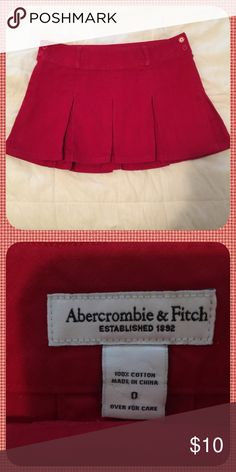 Abercrombie Pleated mini skirt size 0 Size 0 Abercrombie & Fitch Dresses Mini
