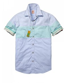 Short-sleeved Oxford shirt in mix & match colours - Shirts - Official Scotch & Soda Online Fashion & Apparel Shops