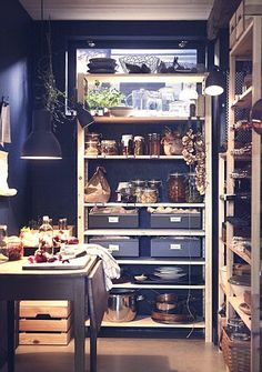 There is no such thing as a small kitchen, only the wrong shelves- IKEA IVAR shelving offers an entire range of solutions to suit any space