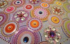 suzen drummen kaleidoscopic crystal floor installations
