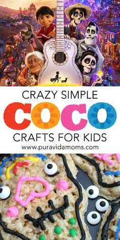 A huge list of simple and fun Coco-inspired crafts and recipes for Dia de los Muertos. Disney Activities, Bonding Activities, Spanish Activities, Fun Activities, Activity Ideas, Halloween Around The World, Fun Crafts, Crafts For Kids, Cultural Crafts