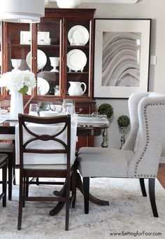 Dining Room Update Via Setting For Four U003eu003e #WorldMarket Dining Room,  Entertaining, Home Decor, Tips