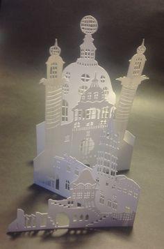 Paper cut out buildings.YJP©groningen