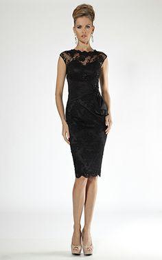 Black Lace cocktail dress Teri Jon