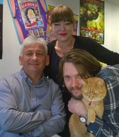 Team Bob :-) - Garry, Belle, James and Bob the man himself. Ace! - from FB page James Bowen & Street Cat Bob