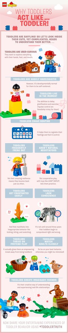 A toddler's behavior can be baffling! Find out a little bit more about what goes on in their cute yet complicated heads! Check out our page on Toddler Truths: http://lego.build/ToddlerTruth