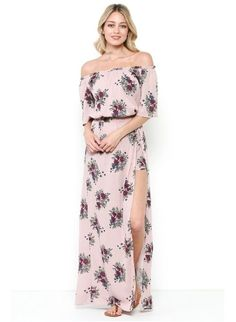 Floral Printed Maxi Skirt With Shorts
