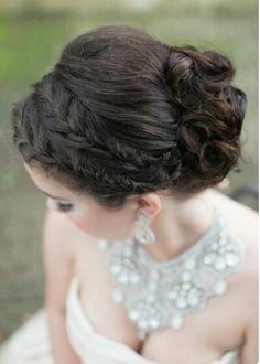 Updo wedding prom formal hair