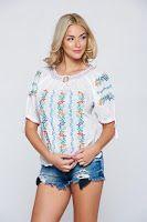 bluze-dama-maneca-scurta-6 Long Sleeve, Sleeves, Tops, Women, Fashion, Moda, Long Dress Patterns, Fashion Styles, Fashion Illustrations