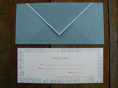 letterpress gift certificate - holiday pattern border