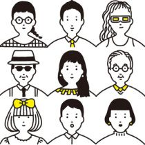 i like these avatars because you can't tell what race these people are. Japan Illustration, Simple Illustration, Illustration Sketches, Illustrations And Posters, Character Illustration, Digital Illustration, Graphic Illustration, Simple Character, Character Design