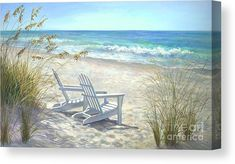 Beach Chairs Palette, Tile Mural - Tile Murals - by Backsplash Innovations Pictures To Paint, Beach Pictures, Beach Canvas, Canvas Art, Canvas Prints, Beach Scene Painting, Blue Painting, Seascape Paintings, Beach Paintings