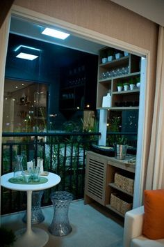 Turning Your Balcony Into a Mini-Bar - Unique Balcony & Garden Decoration and Easy DIY Ideas Mini Bars, Apartment Balcony Decorating, Apartment Balconies, Outdoor Bar Sets, Small Balcony Decor, Home And Living, Bangkok, Sweet Home, House Design