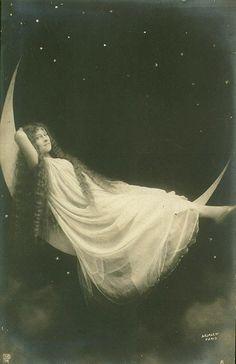 Vintage moon card