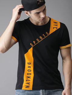 Buy Moda Rapido Men Black Printed Round Neck T Shirt - Tshirts for Men 8683507 | Myntra