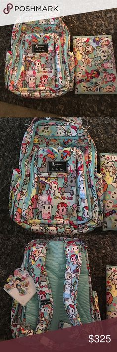 BNWT TOKIDOKI JUJUBE BE RIGHT BACK UNIKIKI 2.0 BNWT and package Tokidoki jujube be right back complete with changing pad. New print but sold out already. My cost was a lot so price is firm unless bundled. Thank you tokidoki Bags Backpacks