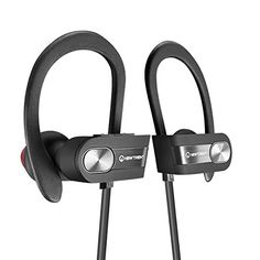 Bluetooth Headphones New Trent Bluetooth Sport HD Stereo Headset In-ear Earbuds Earphones with Flexible Ear Hooks (Black Silver) - Shop for iPhone 6 and cases (unlocked iPhones (Samsung Galaxy sm Sports Headphones, Bluetooth Headphones, Ps4 Headset, Audio, Iphone Accessories, Black Silver, Hooks, Ear, Silver Shop