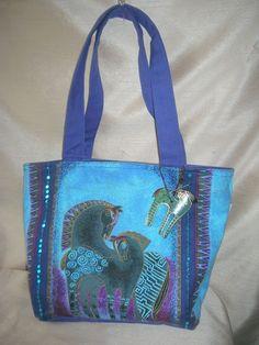 LAUREL BURCH Purse Handbag * Indigo Horse with Colt  *  Shades of Blues & Purple #LaurelBurch #TotesShoppers
