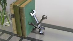 Dancing Wrenches Bookend Desk Accessory by TabDesign on Etsy, $135.00