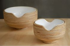Milky-Center, Small bowl by Modern Gesture