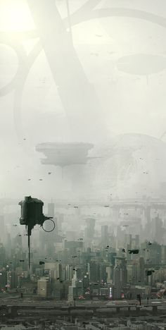 "rhubarbes: "" ArtStation - In a near future, by Francesco Lorenzetti More concept art here. Cyberpunk City, Futuristic City, Environment Concept Art, Environment Design, Fantasy Landscape, Sci Fi Fantasy, Landscape Art, Landscape Architecture, Sci Fi City"