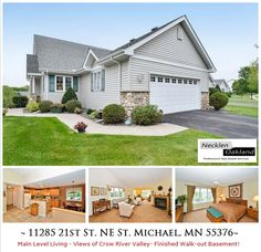 Just Listed in St. Michael! Highly desirable DETACHED town home located in the premiere Forest Glen neighborhood. Main level living w/fully finished walk-out lower level. Vaulted ceilings + a sun room that overlooks a tranquil pond, and views of the Crow River Valley. Master suite w/ large bathroom and walk-in closet. Large kitchen with lots of storage! Must see!  For more info and photos visit: http://www.mndreams.com/listing/mlsid/152/propertyid/4530132/