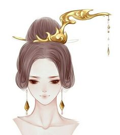 Chinese Picture Style Draw Hair Dresses Face Art Hairstyles Anime Reference China