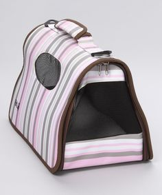 Stripe Folding Airline-Approved Pet Carrier
