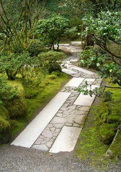 Portland Japanese Garden stone path