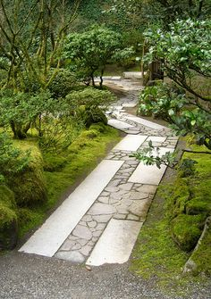 Portland Japanese Garden stone path Love IT! Perfect Idea for any Space!