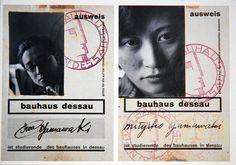 justincampoy:  Two Bauhaus Student ID's. Husband and wife,Iwao andMichiko Yamawaki