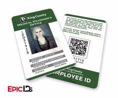 "iZombie TV Series Inspired ""Olivia (Liv) Moore"" Medical Examiners Office Employee ID"