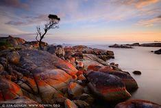 landscapes stock photography | Bay of Fires at Sunrise, Binalong Bay, Tasmania (TAS), Australia