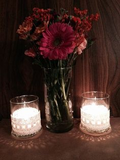Ivory table center piece by CountryCliche on Etsy