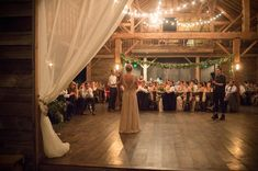 We love that dreamy look and magical feel barns have all lit up in string lights.