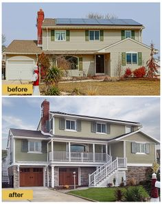 """As seen on """"This Old House: Jersey Shore Rebuilds."""" The homeowners were forced to raise their home onto 9 ft. pilings after Superstorm Sandy. The home has moisture resistant building products on the exterior including Clopay Canyon Ridge Collection stained faux wood carriage house garage doors that won't rot, warp or crack. www.clopaydoor.com"""